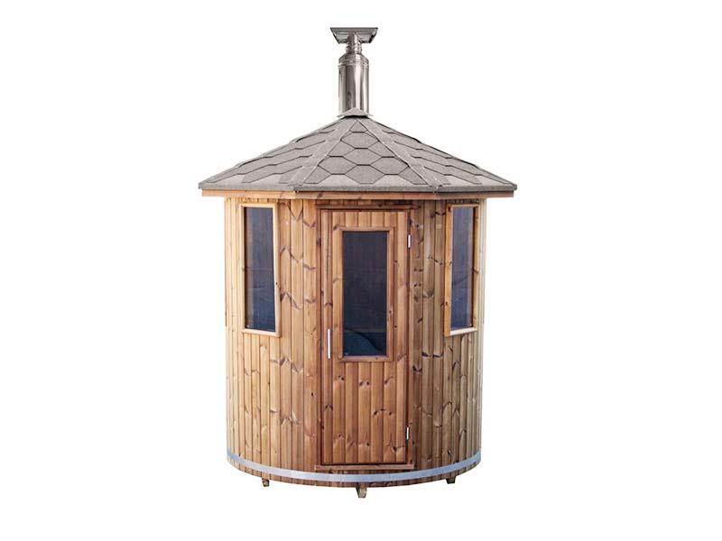 sauna-ogrodowa beczka pionowa