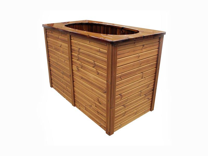 Drewniana wanna ogrodowa ogrzewana elektrycznie SPA
