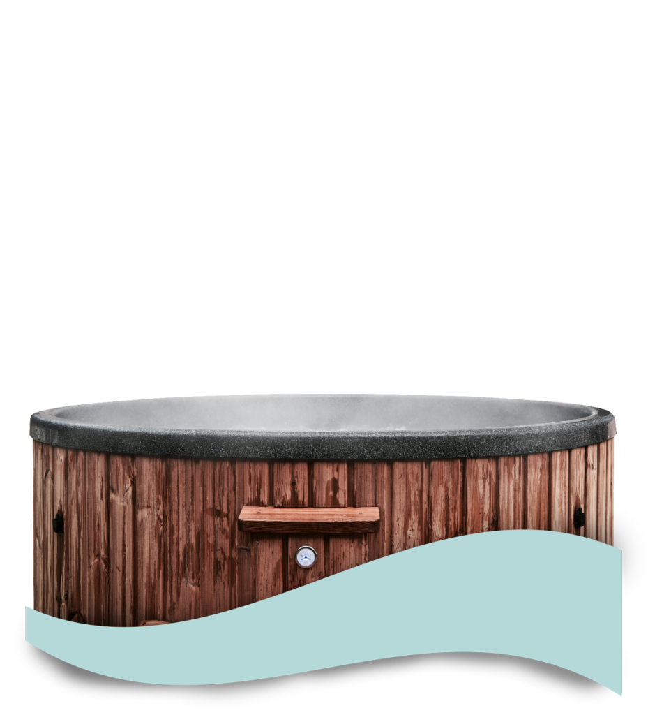 balia ogrodowa drewniana