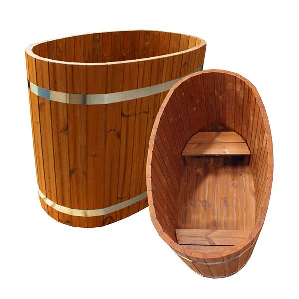 balia ogrodowa drewniana dla dwojga